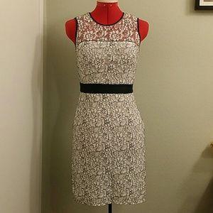 Banana Republic white lace overlay dress